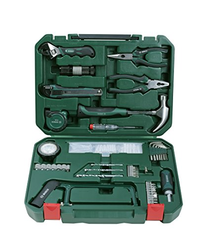 Bosch All-in-One  Metal 108 Piece Hand Tool Kit (Silver, Black and Green)