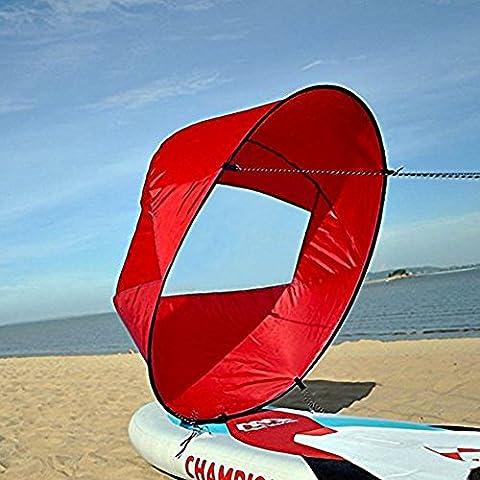 voile Kayak pagaie 42 Pouces Accessoires Kayak Canoë léger Portable avec sac de rangement ( Couleur : Rouge )