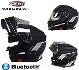 Motorrad Bluetooth KlappHelme VIPER V171 BL3.0 MotorradHelm Flip Up Modularhelm...