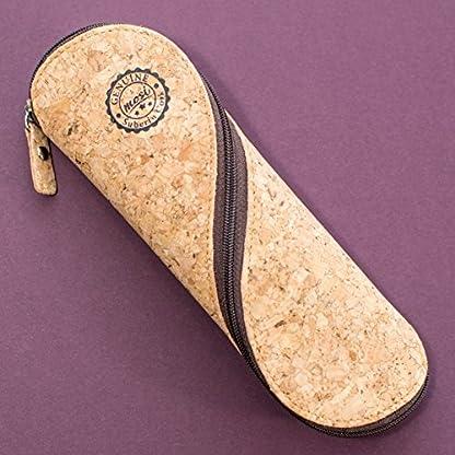 51nQGvF8DYL. SS416  - Estuche de gafas delgadas, estuche de lápices y cartuchera ~ Estuche suave de corcho portugués, estilo vintage, hecho a mano