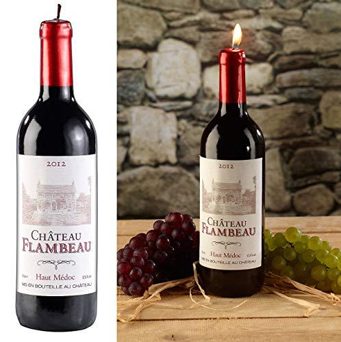 Britesta Weinflasche Kerze: Dekorative Wachskerze in authentischer Weinflaschenform, 29 cm hoch (Weinflaschenkerze)
