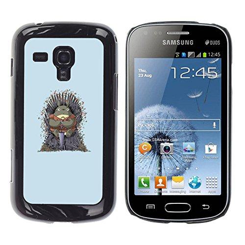 SuperStar // Kühles Bild Hartschalenkoffer PC Schutzhülle Hard Case Protective Cover for Samsung Galaxy S Duos S7562 / Nachbar Totoro Thrones /