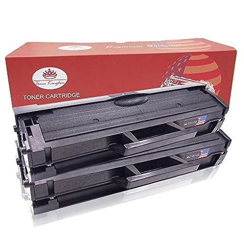 Toner Kingdom 2 Pack Compatible Toner Cartridge For Samsung MLT-D111S Xpress SL-M2020W SL-M2020 SL-M2022 SL-M2022W SL-M2026 SL-M2026W SL- M2070 SL-M2070W SL-M2070FW Printer Black