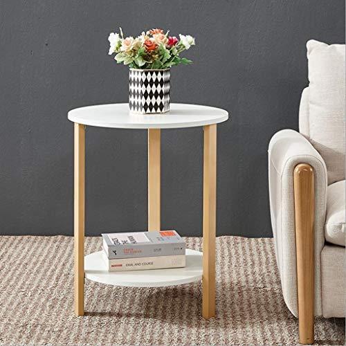 T-Day Beistelltische Nachttisch Tische Couchtisch Beistelltisch, für Wohnzimmer Schlafzimmer, Beistelltisch, einfache Montage, Akzentmöbel in Würfelform (Color : Round, Size : 60CM) -