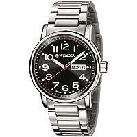 Wenger Unisex Reloj de pulsera analógico cuarzo acero inoxidable 01.0341.104 de WENGER