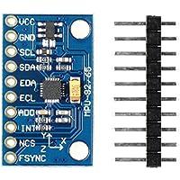 Paradisetronic.com MPU-9250 Modul, 3-Achsen-Accelerometer, Gyroskop und -Magnetometer, 9DOF, I2C, SPI, z.B. für Arduino, Genuino, Raspberry Pi