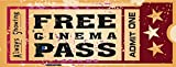Home Cinema Metal Sign, Ticket to the Movie, Media Room, Family Room, Bar, Den Decor by OMSC by OMSC