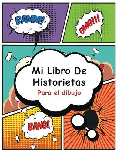 Mi Libro de Historietas: Crea tu propia tira cómica, variedad de plantillas para dibujar historietas,Blank Comic Book (Superhéroe)-
