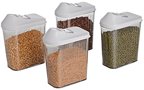 Slings Cereal Dispenser Easy Flow Storage Jar 750ml 3 Pcs Set, Idle For Kitchen- Storage Box Lid Food Rice Pasta Container