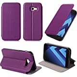 Etui luxe Samsung Galaxy A5 2017 violet Slim Cuir Style avec stand - Housse coque de protection Samsung Galaxy A5 version 2017 violette - Accessoires pochette XEPTIO case