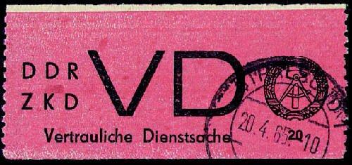 Goldhahn DDR Dienstmarke D Nr. 1A gestempelt - Briefmarken für Sammler