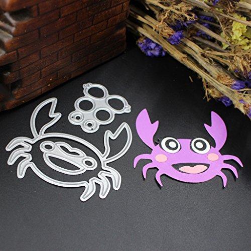 Moonbrid Krabbe Metall Stahl Schneiden Prägestempel Kit Für DIY Einladung Scrapbook Album Handwerk,Weihnachten Valentinstag Halloween Geschenke