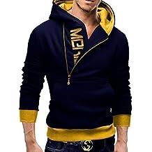MERISH Sudaderas con Capucha para Hombre Slim Fit Logotipo Modell 60