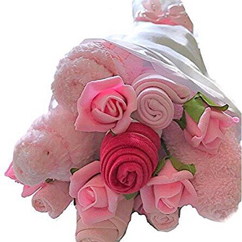 ac1a31f7fcf72 Bébé Fille Rose Vêtements traditionnel Bouquet Baby Shower NEUF Maman Cadeau