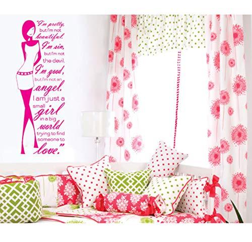 Moderna moda femenina arte murales por favor vinilo wallpaper pegatinas dormitorio sala de estar tatuajes de pared decoración para el hogar