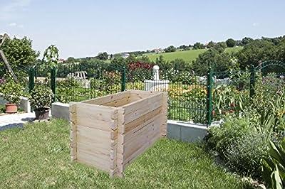 Hochbeet Maria aus 28mm Blockbohlen - H60xL120xB60 von Steiner Shopping bei Du und dein Garten