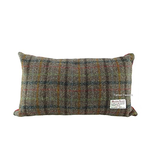 Authentic Harris Tweed Rectangular Cushion In Various Colours LB4001 (Brown COL8)