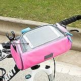 Borsa da Manubrio per Bicicletta per Bici da strada, Mountain Bike e Motociclette Borsone per Biciclette Porta Telefono Touchscreen.Custodia per Bici Impermeabile Tracolla Rimovibile
