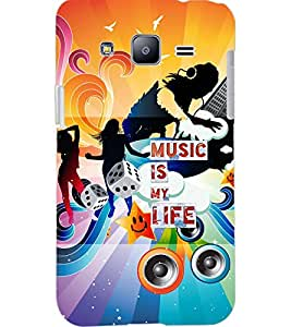 PrintDhaba MUSIC QUOTE D-7092 Back Case Cover for SAMSUNG GALAXY J2 (Multi-Coloured)