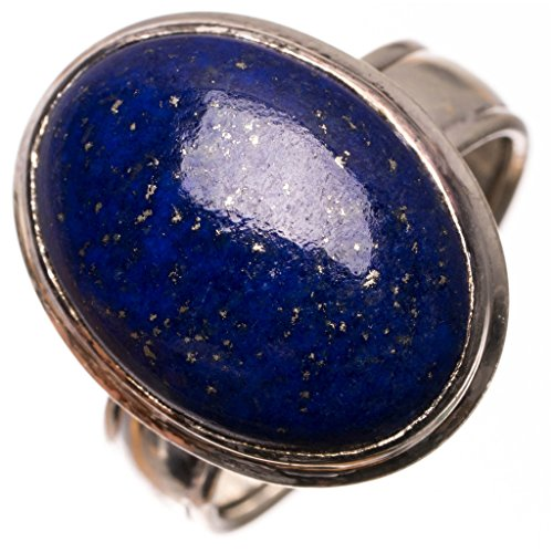 10b89ba00071 Plata de ley 925 Lapis Lazuli Único hecho a mano Anillos 12 3