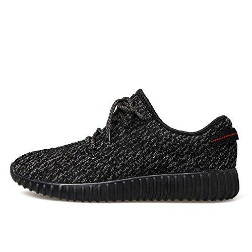 SITAILE Homme Chaussures de Course Sports Fitness Gym athlétique Baskets Sneakers Poids Léger (Vendu par ZADA FENG SHOP) Noir