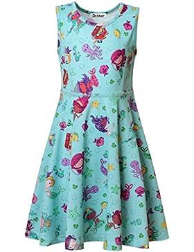 Jxstar Mädchen A-Linie Kleid