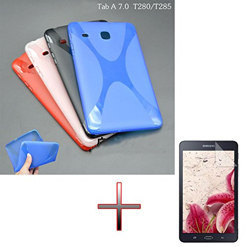 Haodasi White TPU Gel Rubber Soft Skin Shell Pouch Haut Shell Pouch Case Cover For + Film Screen Protector Bildschirmschutz For 7