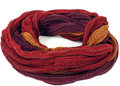 Guru-Shop Weicher Loop Schal/Stola, Magic Loop, Weste, Herren/Damen, Rot/orange, Baumwolle, Size:One Size, Schals Alternative Bekleidung