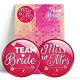 Miss To Mrs / Team Bride Hen Do Party Large Gift Badges - Single or Multi Pack - Bride To Be Classy Hen - #1250