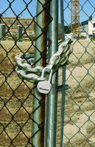Master Lock 8021EURD Chaine acier cémente couv vinyle 2 m x 10 mm