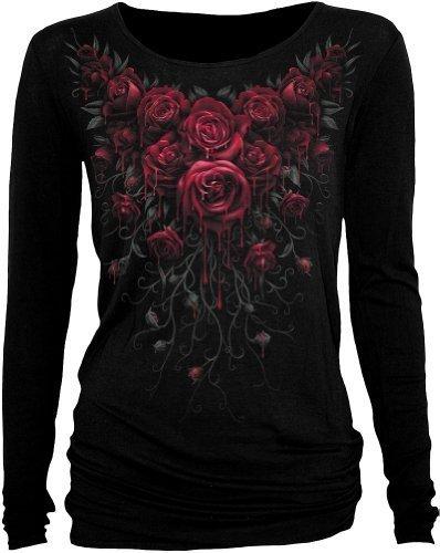 Blood Rose longsleeve black womens - L - Spiral Direct
