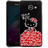 Samsung Galaxy A3 (2016) Housse Étui Protection Coque Hello Kitty Merchandising pour supporters Noir
