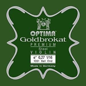 OPTIMA Goldbrokat Premium Violin E1 0.27 Ball End 1/16