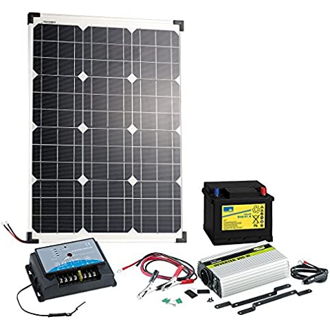 revolt pannello solare (50W) con batteria al piombo, Regolatore & inverter
