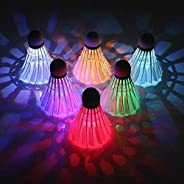 LED Badminton Shuttlecock Dark Night Glow Birdies Lighting(6 Pack)