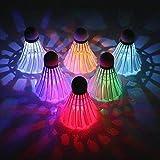 LED Badminton Shuttlecock Dark Night Glow Birdies Lighting(6 Pack)