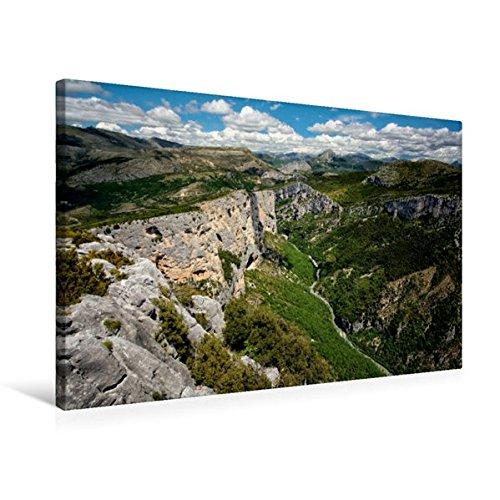 Calvendo Premium Textil-Leinwand 75 cm x 50 cm quer, Verdonschlucht | Wandbild, Bild auf Keilrahmen, Fertigbild auf echter Leinwand, Leinwanddruck Orte Orte