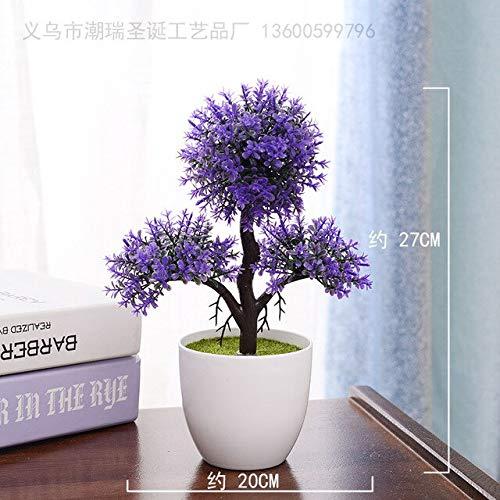 Artificiale pianta bonsai albero finto bonsai albero in vaso arredi per uffici home alberi artificiali per la decorazione domestica bonsai artificiale: 14