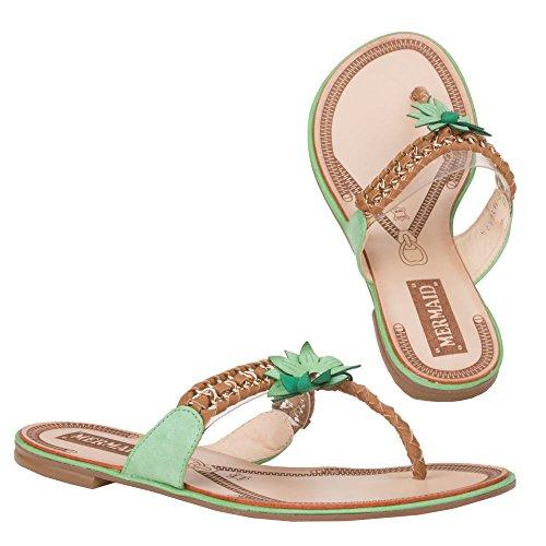 Ital - 12–m31162, sandales Vert - Vert