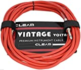 Câble 6M Guitare Electrique Basse Clavier Electronique Instrument PVC Qualité Premium couleur Rouge Mat (1621)