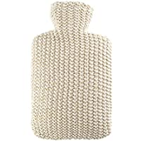 Hugo Frosch Wärmflasche Klassik, Baumwollstrick Creme/Gold Lurex, 1,8 ltr preisvergleich bei billige-tabletten.eu
