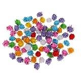 Baoblaze 100pcs Balles Pompons Multicoloré Pour DIY Jouet Chat Accessoire Couture