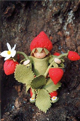 Bastelset kleines Erdbeerkind