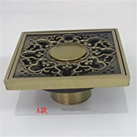 Lavadora un desagüe en el suelo lleno de cobre para lavadora antiodorization 10*10cm antiguos,un desagüe en el suelo