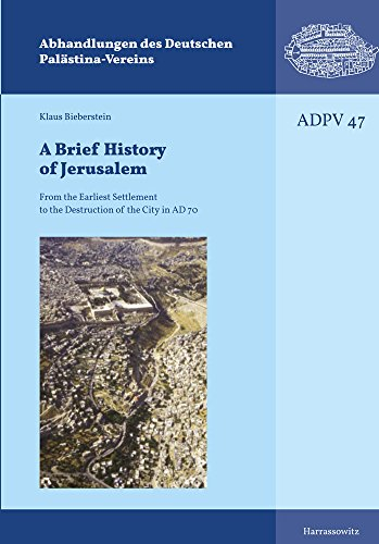 A Brief History of Jerusalem: From the Earliest Settlement to the Destruction of the City in AD 70 (Abhandlungen des Deutschen Palästina-Vereins, Band 47)