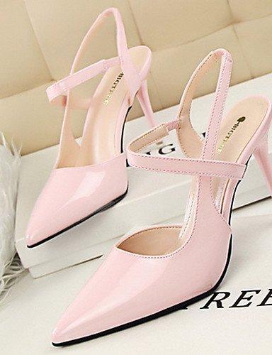WSS 2016 Chaussures Femme-Décontracté / Soirée & Evénement-Noir / Rose / Violet / Rouge / Argent / Gris-Talon Aiguille-Talons-Talons-Similicuir gray-us7.5 / eu38 / uk5.5 / cn38