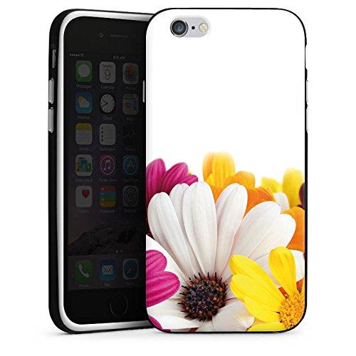 Apple iPhone 5s Housse Étui Protection Coque Fleurs Fleurs Marguerite Housse en silicone noir / blanc