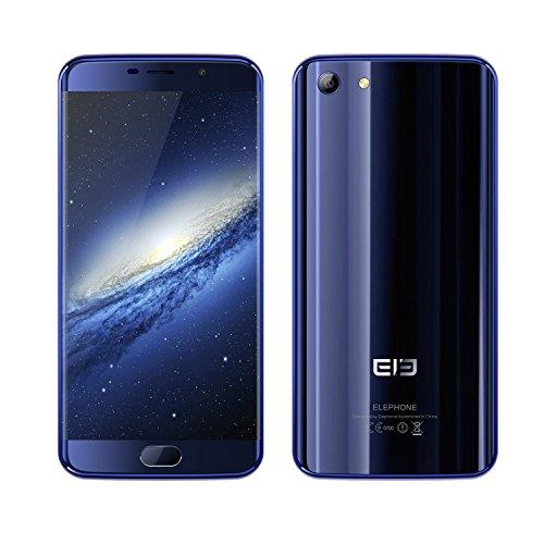 "Elephone S7 Smartphone Libre 4G LTE Android 6.0, Pantalla 5.5"", cámara 5Mp 13Mp, 64GB ROM, 2,0 GHz, Core Deca, 4GB RAM AZUL ELE-S7-AL"