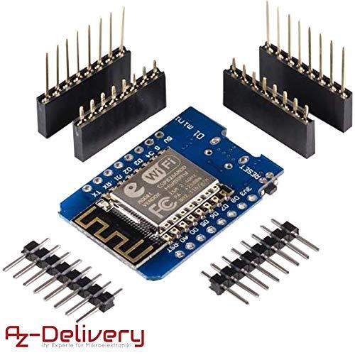 AZDelivery ⭐⭐⭐⭐⭐ D1 Mini NodeMcu mit ESP8266-12E WLAN Module für Arduino, 100% WeMos kompatibel und mit gratis eBook! D1 Mini