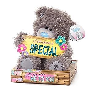 Me To You sg01W40906-Inch Alto Peluche señal de Tatty Teddy, Holding Alguien Especial